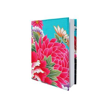 芸竹工房-天空藍牡丹筆記本